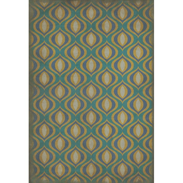 Distressed Teal, Distressed Gold - Atlantis Contemporary / Modern Area Rug