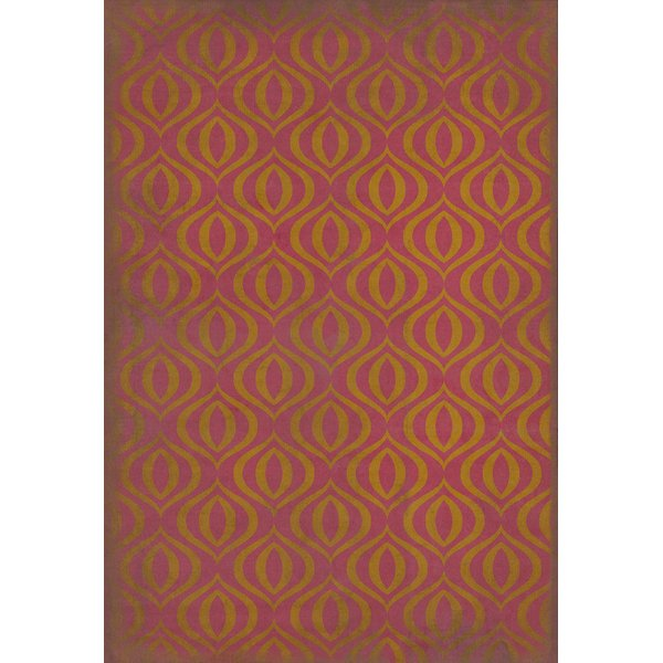 Pink, Gold Contemporary / Modern Area Rug