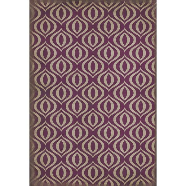 Purple, Ivory Contemporary / Modern Area Rug