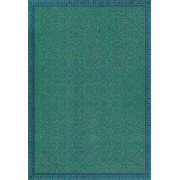 Green, Blue Contemporary / Modern Area Rug
