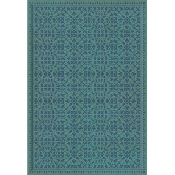 Teal, Royal Blue Contemporary / Modern Area Rug