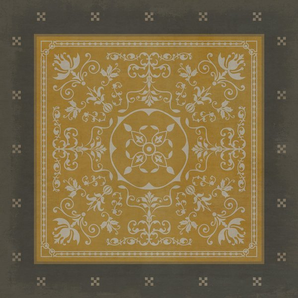 Gold, Distressed Black Contemporary / Modern Area Rug