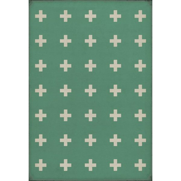 Soft Green, Antiqued Ivory - Hydra Contemporary / Modern Area-Rugs