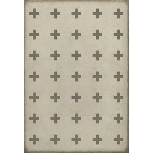 Ivory Contemporary / Modern Area Rug