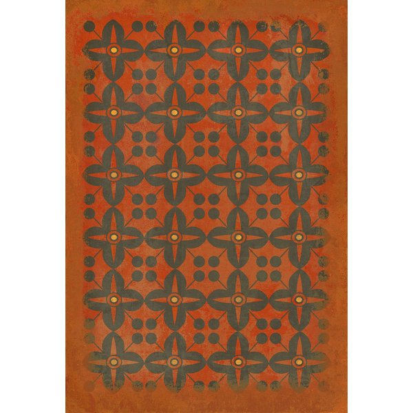 Red, Black Contemporary / Modern Area Rug