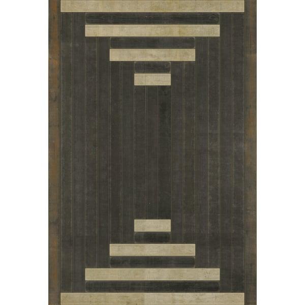 Brown, Cream Contemporary / Modern Area Rug