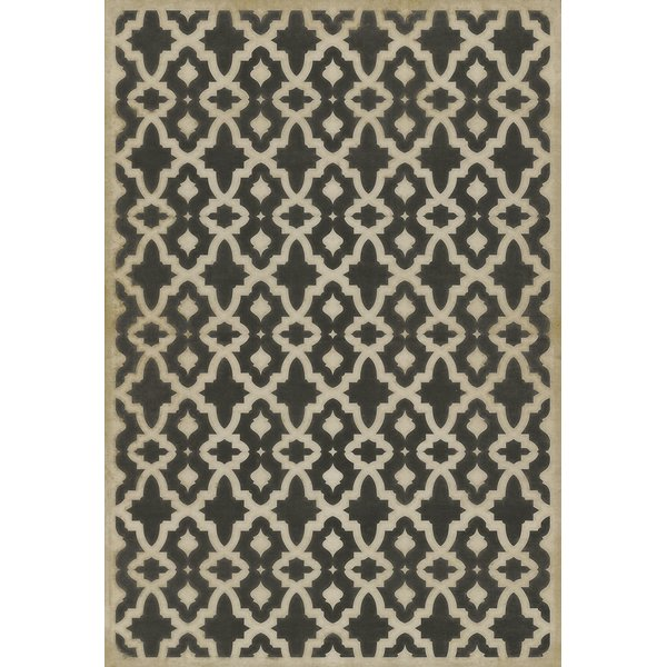 Distressed Black, Muted Ivory - A Murder of Crows Contemporary / Modern Area Rug