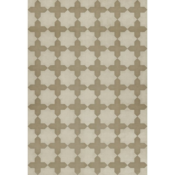 Tan, Ivory Contemporary / Modern Area Rug