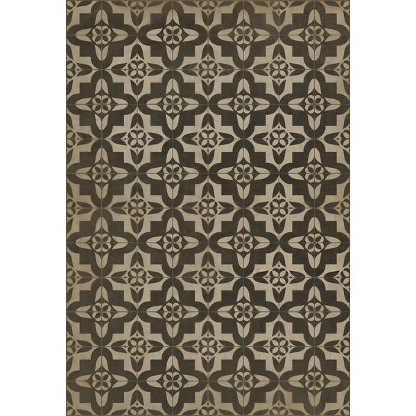 Antiqued Brown, Ivory Contemporary / Modern Area Rug