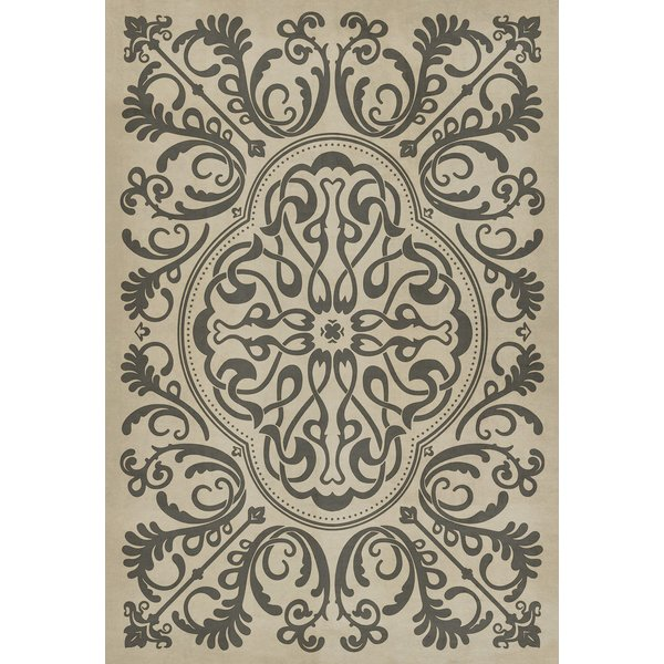 Antiqued Ivory, Distressed Grey - Crazy Eights Contemporary / Modern Area-Rugs