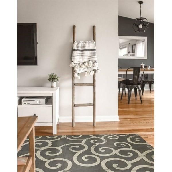 Grey, Cream Contemporary / Modern Area Rug