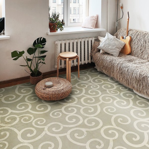 Distressed Grey, Antiqued Ivory - Moby Dick Contemporary / Modern Area-Rugs