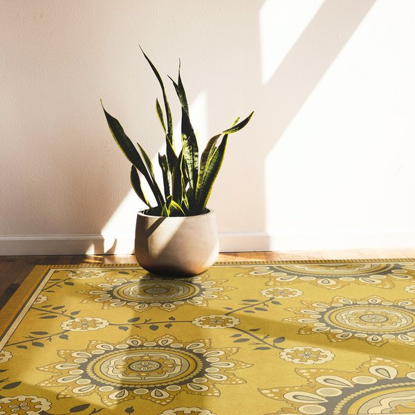 Antiqued Gold, Soft Ivory, Grey - Holein Contemporary / Modern Area Rug