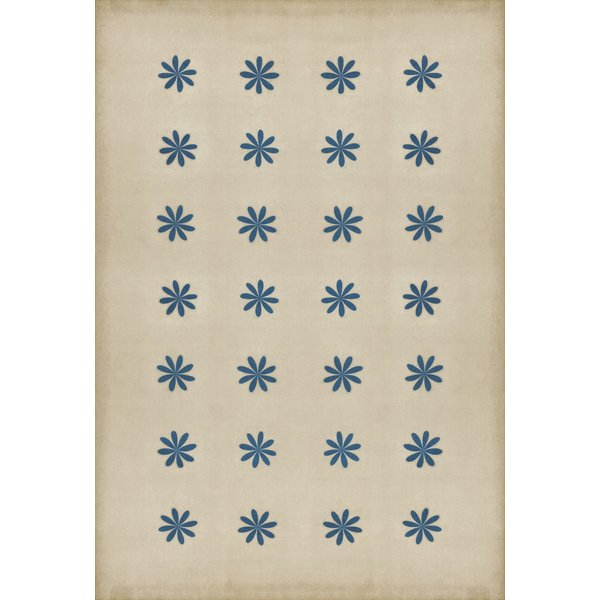 Antiqued Ivory, Blue - Cloche Contemporary / Modern Area Rug