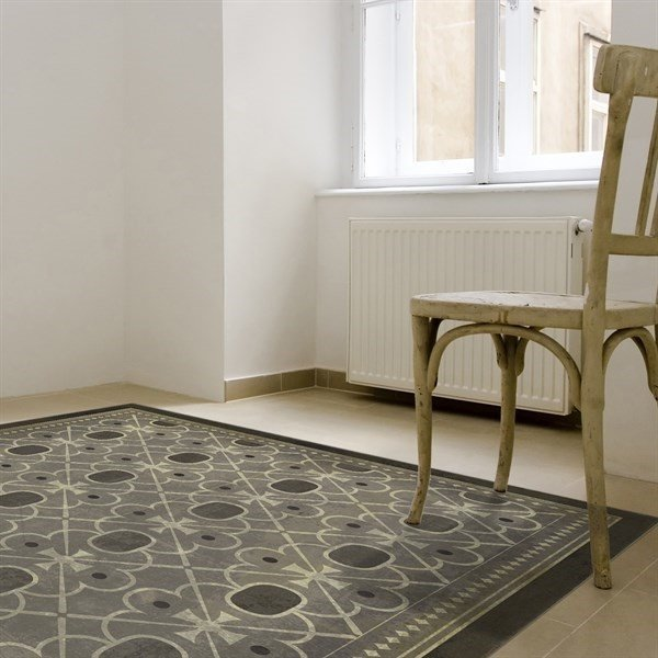 Distressed Grey, Antiqued Ivory - Baker Street Contemporary / Modern Area Rug