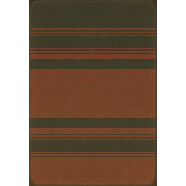 Distressed Black, Muted Red Striped Area-Rugs