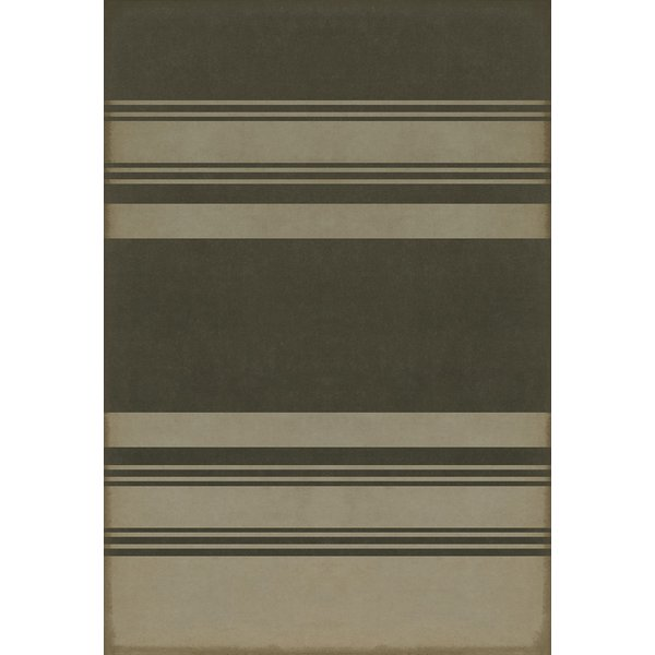 Distressed Black, Antiqued Tan Striped Area-Rugs