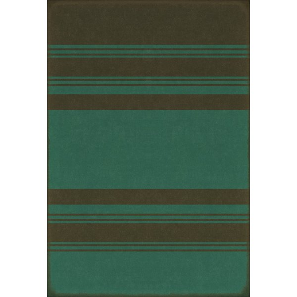 Distressed Black, Muted Teal Striped Area-Rugs