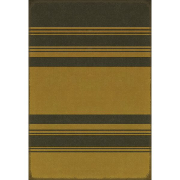 Distressed Black, Distressed Yellow Striped Area-Rugs