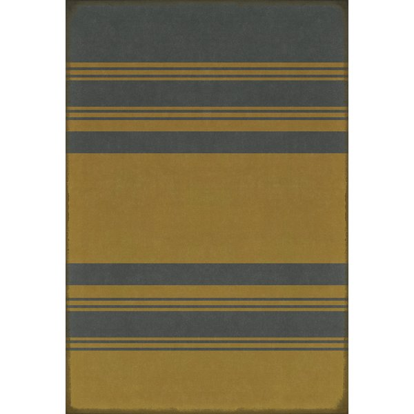 Distressed Blue, Distressed Yellow Striped Area-Rugs