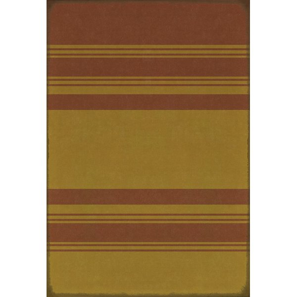 Distressed Red, Distressed Yellow Striped Area-Rugs