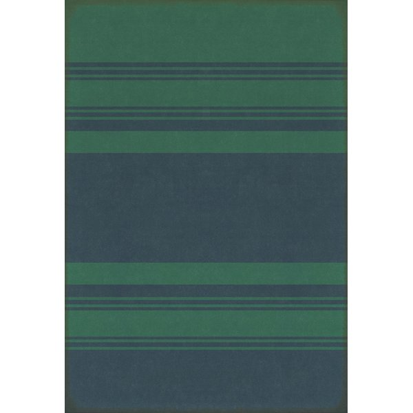 Distressed Teal, Distressed Blue Striped Area-Rugs