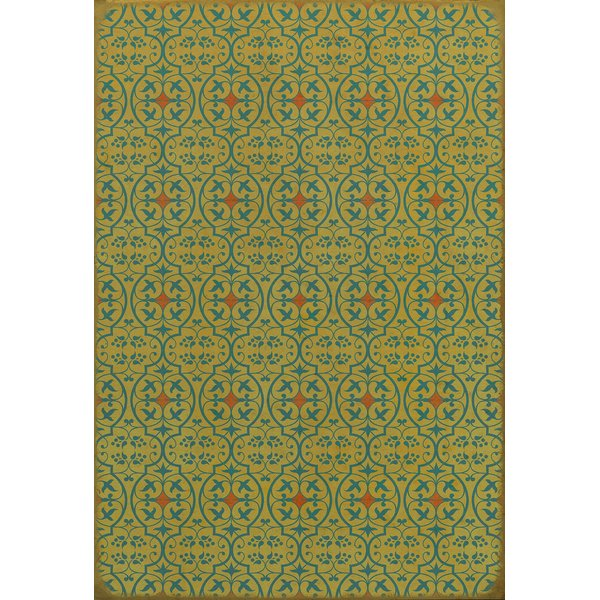 Teal, Red Contemporary / Modern Area Rug