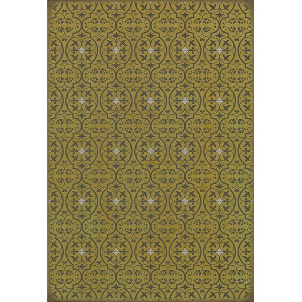 Gold Contemporary / Modern Area Rug