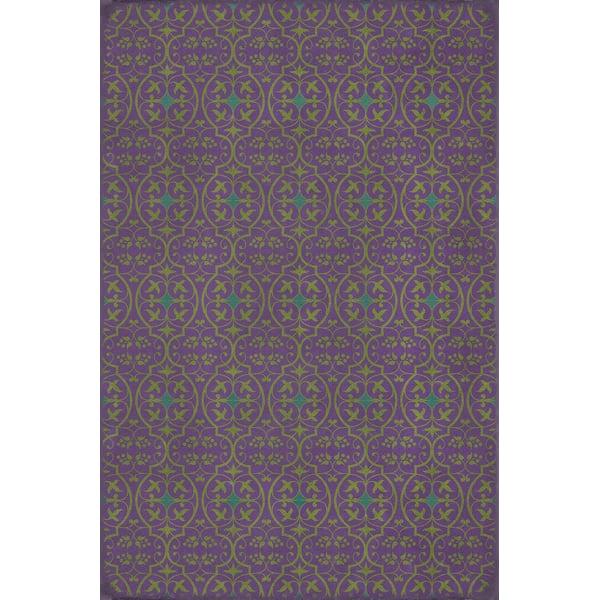 Purple, Teal Contemporary / Modern Area Rug