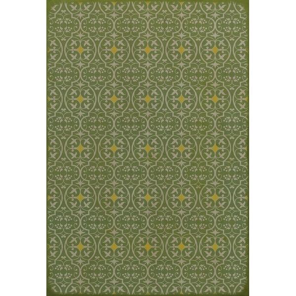 Green, Yellow Contemporary / Modern Area Rug