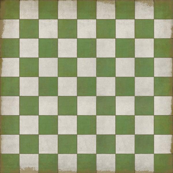 Green, Ivory Geometric Area Rug