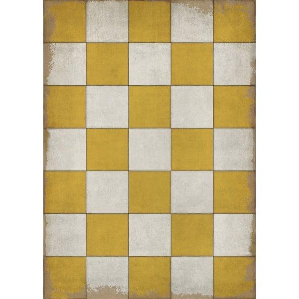Gold, Ivory Geometric Area Rug