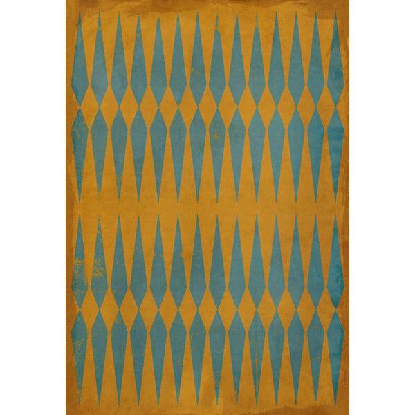 Orange, Blue Contemporary / Modern Area Rug