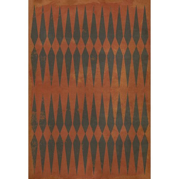 Orange, Black Contemporary / Modern Area Rug