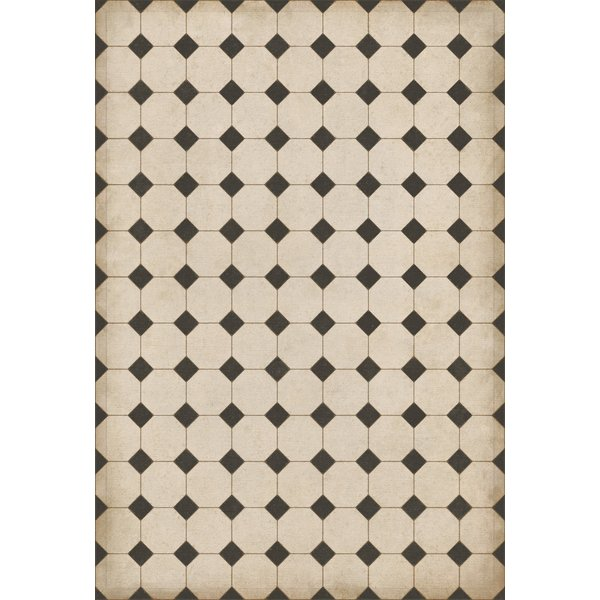 Cream, Distressed Black - Adams Geometric Area-Rugs