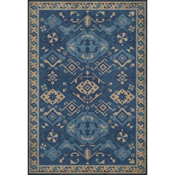 Blue, Cream (Indigo) Southwestern Area Rug