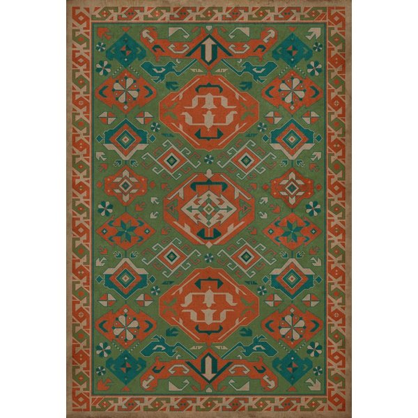 Green, Orange, Khaki - Mace Southwestern Area-Rugs