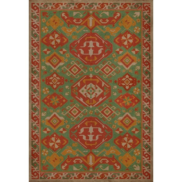 Orange, Gold, Green (Nutmeg) Southwestern Area Rug