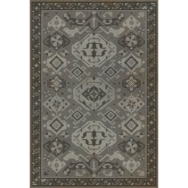 Distressed Grey (Poppy Seed) Southwestern Area Rug