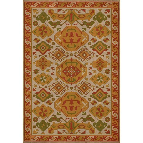 Orange, Red, Green (Saffron) Southwestern Area Rug