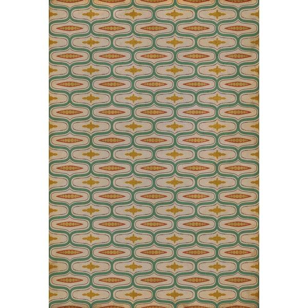 Beige, Green, Mustard - Austen Contemporary / Modern Area-Rugs