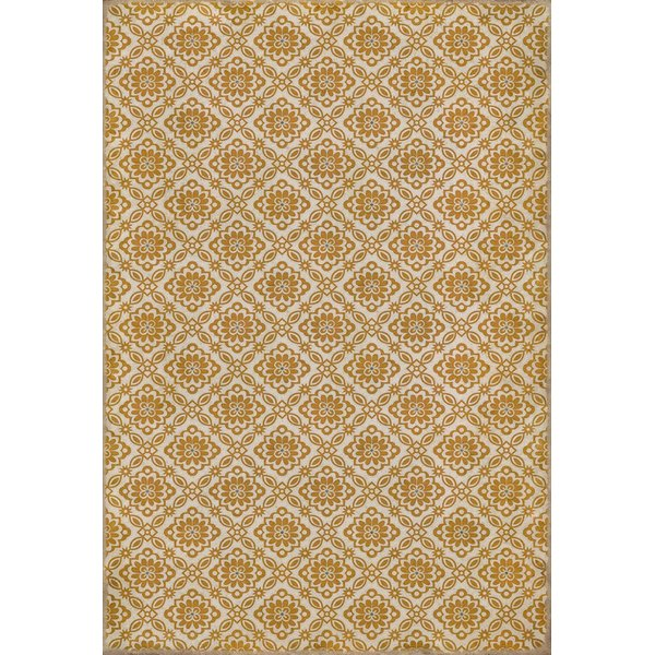 Cream, Gold - Parks Contemporary / Modern Area-Rugs
