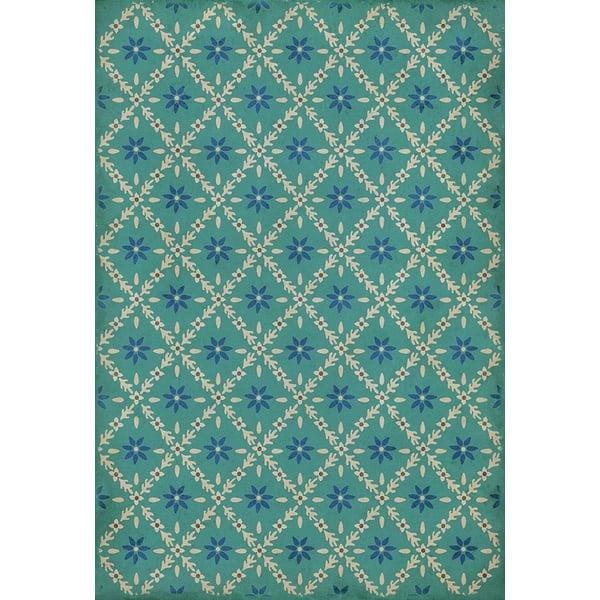 Blue, Cream - Bartram Floral / Botanical Area-Rugs