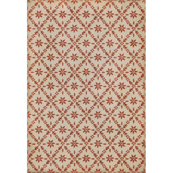 Cream, Red - Josselyn Floral / Botanical Area-Rugs