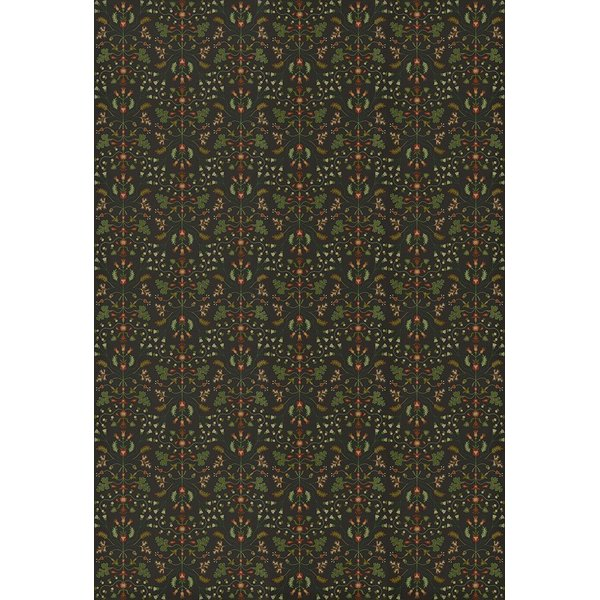 Green - Afterwit Floral / Botanical Area-Rugs