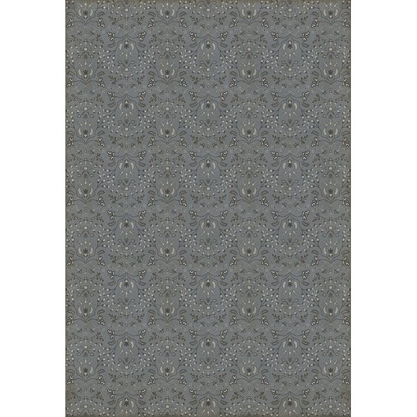 Distressed Grey - Wit and Wisdom Floral / Botanical Area-Rugs