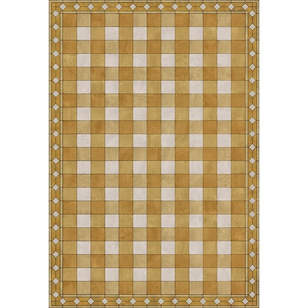 Yellow, Cream Country Area Rug