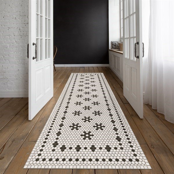 Ivory, Distressed Black (Clemont Avenue) Contemporary / Modern Area Rug