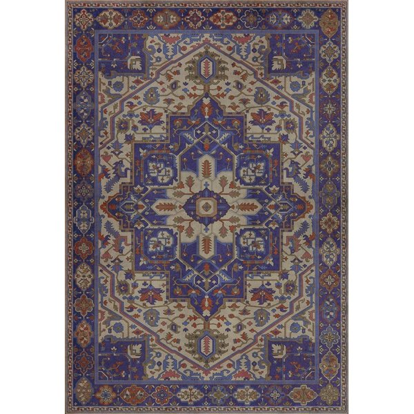 Purple, Red, Cream - Morgana Traditional / Oriental Area-Rugs