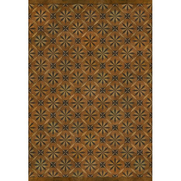 Antiqued Brown, Distressed Black (Art and Life) Contemporary / Modern Area Rug